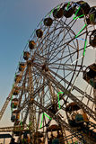 People enjoy the big wheel in the amusement park in Delhi Royalty Free Stock Photo