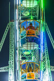People enjoy the big wheel in the amusement park in Delhi Royalty Free Stock Photos