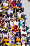 People enjoy the boat trip on River Seine in Paris Stock Photos