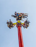 People enjoy the carousels at Photokina  in Cologne Stock Photo