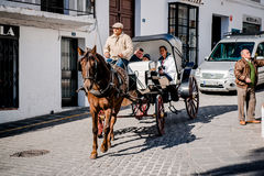People enjoy carriage ride Stock Photography