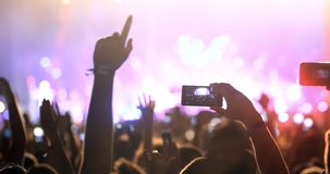 People enjoy concert at festival. Party young people enjoy concert at festival royalty free stock images