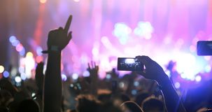 People enjoy concert at festival. Party young people enjoy concert at festival stock image