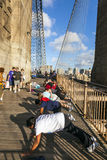People enjoy exercises at Brooklyn Royalty Free Stock Photography
