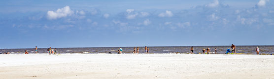 People enjoy the Fort Myers beach stock image