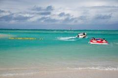 People enjoy the holiday on Mauritius