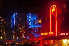 People enjoy nightlife at Royalty Free Stock Image