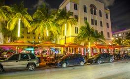 People enjoy nightlive at ocean Royalty Free Stock Photography