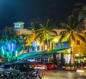 People enjoy nightlive at ocean Royalty Free Stock Photo