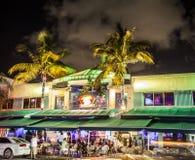 People enjoy nightlive at ocean Royalty Free Stock Images