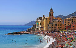 Camogli, Tigullio gulf, people enjoying the summer Stock Photography