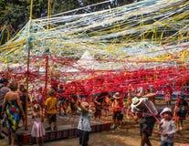 People enjoy ribbon playground Stock Photo
