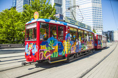 People enjoy the ride with the Ebbelwei express in Frankfurt Royalty Free Stock Photos