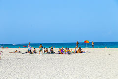 People enjoy south beach  in Miami Stock Images