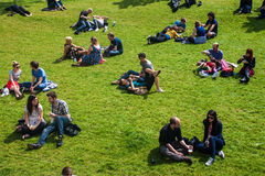 People enjoy a sunny day Stock Photo
