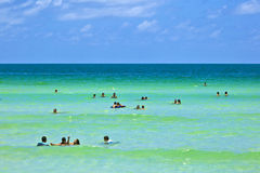 People Enjoy The Beach Im Miami Stock Photography