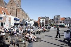 Free People Enjoy The Sunshine In The Old City Of Amersfoort Stock Photography - 53356912