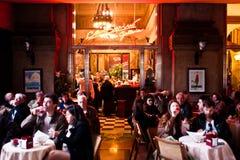 People enjoy the traditional italian aperitif Stock Photo