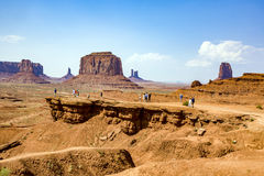 People enjoy the view from John Fords place to the scenic Butte Royalty Free Stock Images