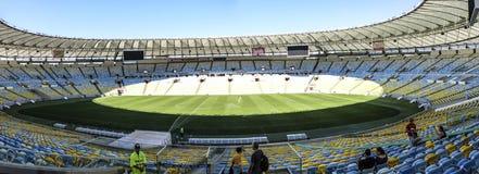 People enjoy visiting the Maracana Stadium in Rio. RIO DE JANEIRO, BRAZIL - AUG 3, 2015: people enjoy visiting the Maracana Stadium in Rio. It is the largest stock image
