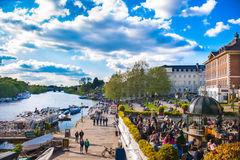 People enjoy the weather in Richmond Stock Images