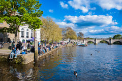People enjoy the weather in Richmond Stock Image