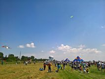 People enjoying the air show. Ciolpani Air Show, Romania Stock Photos