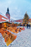 People enjoying an annual Christmas Market on Dome Square Stock Photos