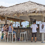 People enjoying a bar at Sentosa Island Stock Images