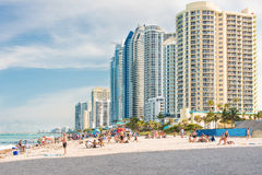 People enjoying the beach at Miami Royalty Free Stock Images