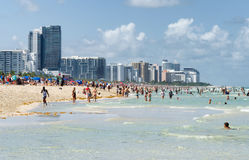 People enjoying the beach at south Miami Stock Images