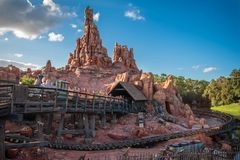 Free People Enjoying Big Thunder Mountain Railroad At Magic Kigndom 2. Royalty Free Stock Photo - 160240675