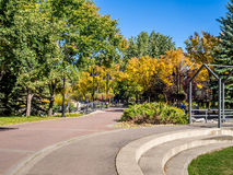People enjoying Calgary's pathway system Royalty Free Stock Photo