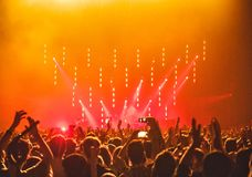 People Enjoying the Concert Stock Photo