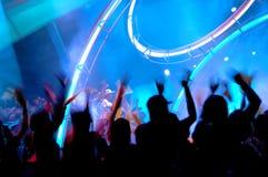 People enjoying the concert stock image