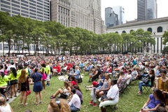 People enjoying concert in Park Royalty Free Stock Photography