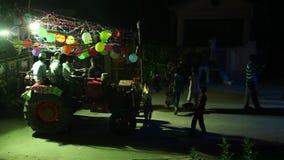 People enjoying festival in Temple stock footage