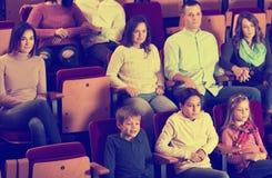 People enjoying film screening in cinema Stock Photography