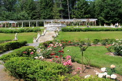 People enjoying the flower gardens at Yaddo Gardens,Saratoga Springs,New York,June,2013 Stock Photography
