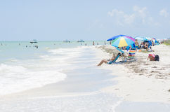 People enjoying a hot day at Florida beach Stock Photos