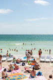People Enjoying Hot Weather On Beach Royalty Free Stock Image