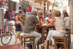 People enjoying lunch Royalty Free Stock Images