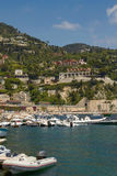 People Enjoying Luxury Bay and Resort of Cote d'Azur in Villefranche Royalty Free Stock Photography