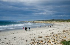 people enjoying the nice day at a local beach in California. Usa royalty free stock images