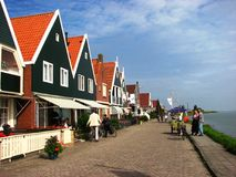 People enjoying a nice summer day, Volendam Stock Photo