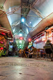 People enjoying nightlife in restaurants and bars in Jerusalem Royalty Free Stock Image