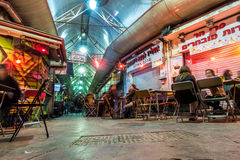 People enjoying nightlife in restaurants and bars in Jerusalem Stock Photo