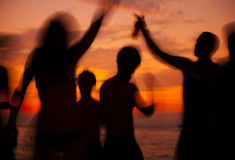 People enjoying party on the beach Stock Photography