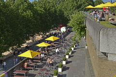 People enjoying South Bank of London, England Stock Photography