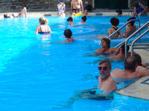 People enjoying the spa near the town of banff Royalty Free Stock Images